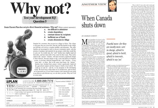 Article Preview: When Canada shuts down, April 1993 | Maclean's