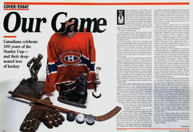 Article Preview: Our Game, April 1993 | Maclean's