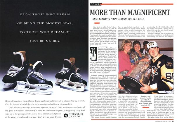 Article Preview: MORE THAN MAGNIFICENT, April 1993 | Maclean's