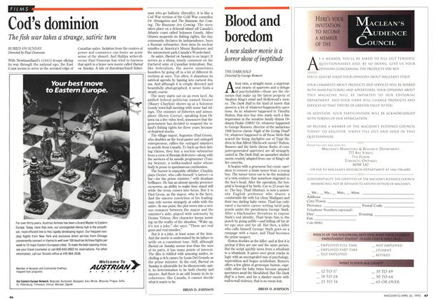 Article Preview: Blood and boredom, April 1993 | Maclean's