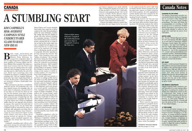 Article Preview: A STUMBLING START, April 1993 | Maclean's