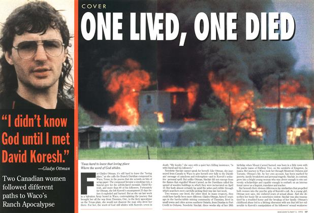 Article Preview: ONE LIVED, ONE DIED, May 1993 | Maclean's