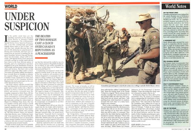 Article Preview: UNDER SUSPICION, May 1993 | Maclean's