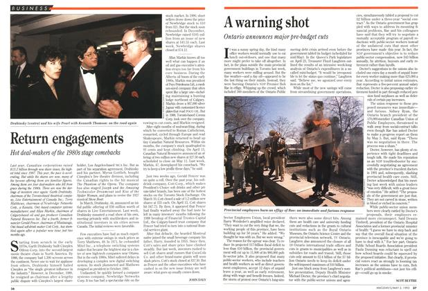 Article Preview: Return engagements, May 1993 | Maclean's
