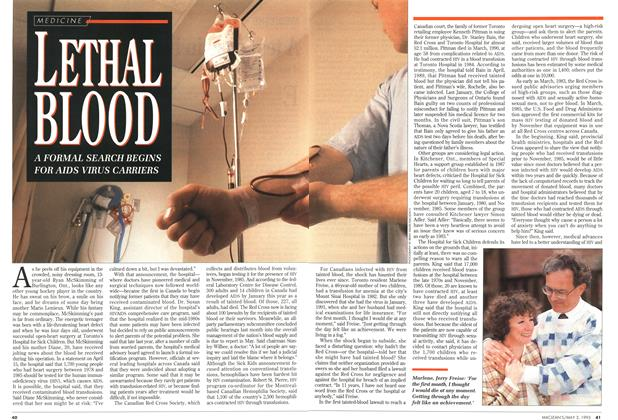 Article Preview: LETHAL BLOOD, May 1993 | Maclean's