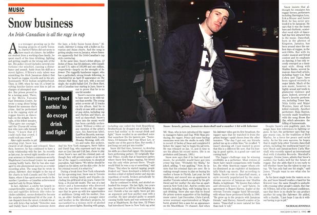 Article Preview: Snow business, May 1993 | Maclean's