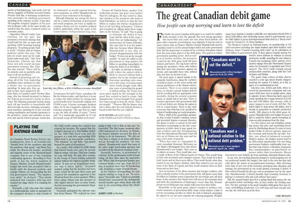 Article Preview: The great Canadian debit game, May 1993 | Maclean's