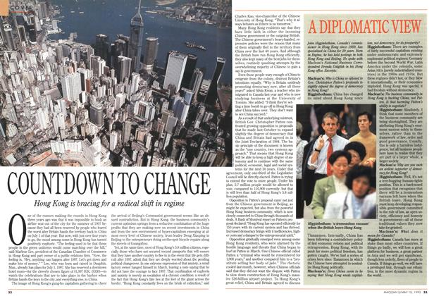 Article Preview: COUNTDOWN TO CHANGE, May 1993 | Maclean's