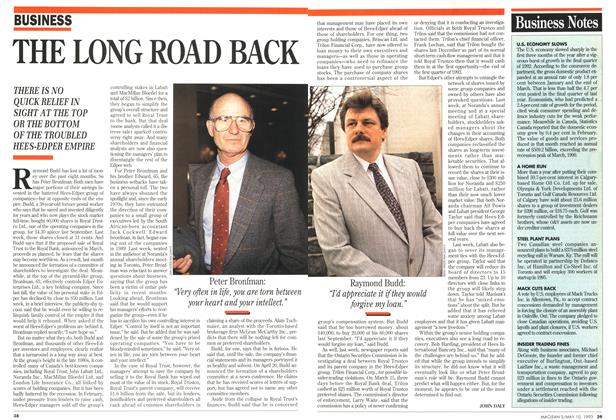 Article Preview: THE LONG ROAD BACK, May 1993 | Maclean's