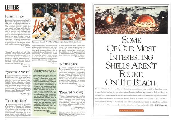 Article Preview: LETTERS, May 1993 | Maclean's