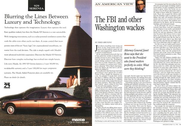 Article Preview: The FBI and other Washington wackos, May 1993 | Maclean's
