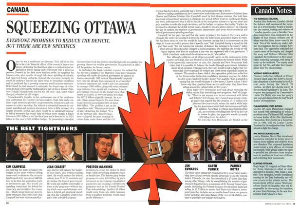 Article Preview: SQUEEZING OTTAWA, May 1993 | Maclean's