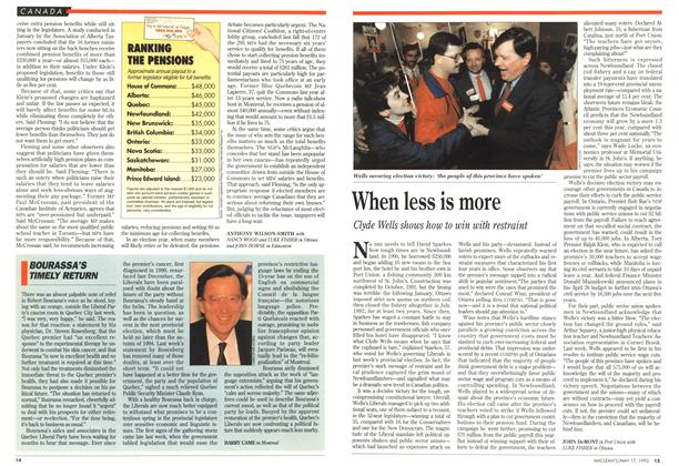 Article Preview: BOURASSA'S TIMELY RETURN, May 1993 | Maclean's