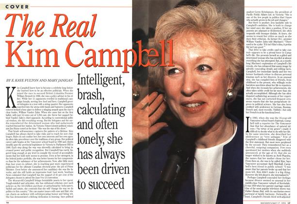 Article Preview: The Real Kim Campbell, May 1993 | Maclean's