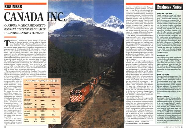 Article Preview: CANADA INC., May 1993 | Maclean's