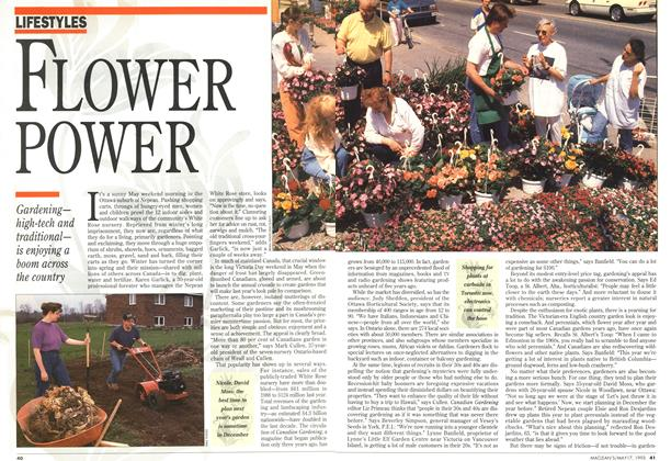 Article Preview: FLOWER POWER, May 1993 | Maclean's
