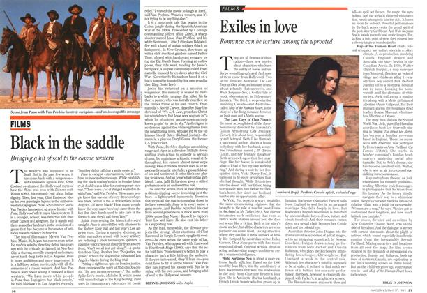 Article Preview: Black in the saddle, May 1993 | Maclean's
