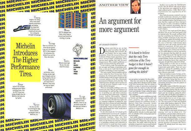 Article Preview: An argument for more argument, May 1993 | Maclean's