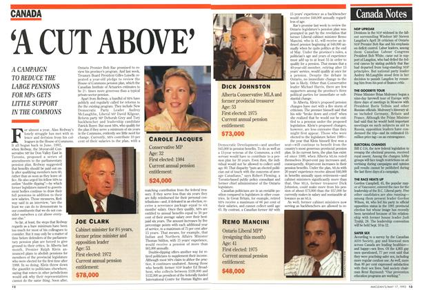 Article Preview: 'A CUT ABOVE', May 1993 | Maclean's