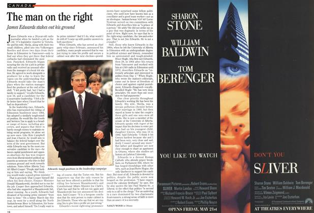 Article Preview: The man on the right, May 1993 | Maclean's