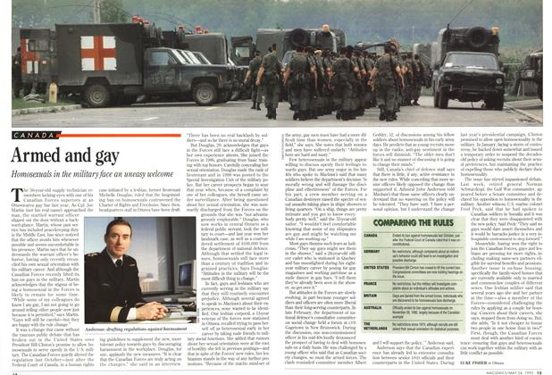 Article Preview: Armed and gay, May 1993 | Maclean's