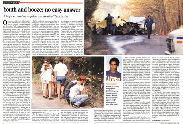 Article Preview: Youth and booze: no easy answer, May 1993 | Maclean's