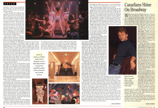 Article Preview: Canadians Shine On Broadway, May 1993 | Maclean's