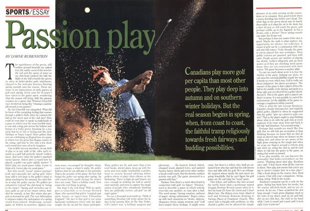 Article Preview: Passion play, May 1993 | Maclean's