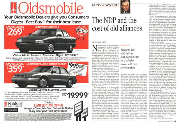 Article Preview: The NDP and the cost of old alliances, May 1993 | Maclean's