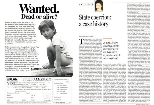 Article Preview: State coercion: a case history, May 1993 | Maclean's