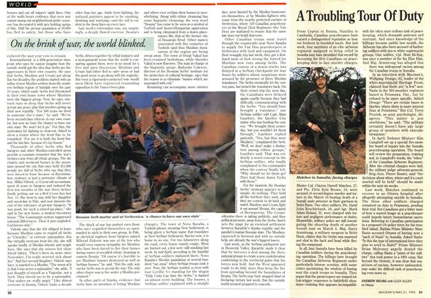 Article Preview: A Troubling Tour Of Duty, May 1993 | Maclean's