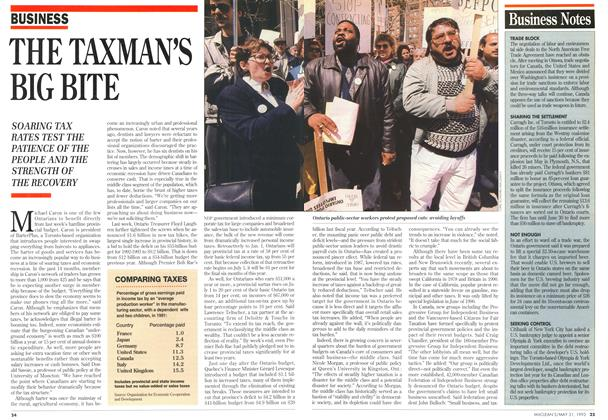 Article Preview: THE TAXMAN'S BIG BITE, May 1993 | Maclean's