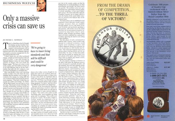 Article Preview: Only a massive crisis can save us, May 1993 | Maclean's