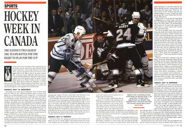Article Preview: HOCKEY WEEK IN CANADA, May 1993 | Maclean's
