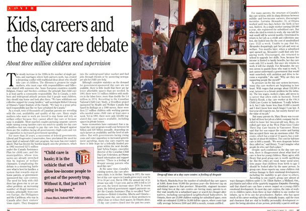 Article Preview: Kids, careers and the day care debate, May 1993 | Maclean's