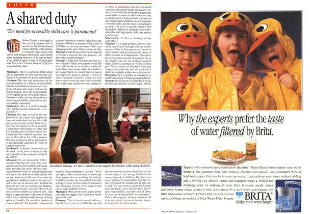 Article Preview: A shared duty, May 1993   Maclean's