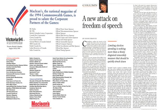 Article Preview: A new attack on freedom of speech, May 1993 | Maclean's