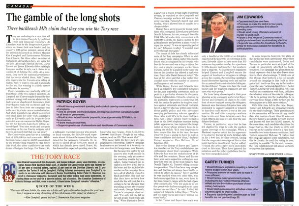 Article Preview: The gamble of the long shots, May 1993 | Maclean's