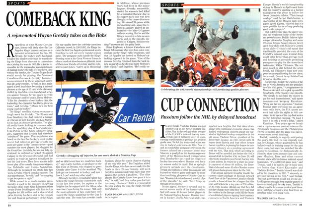 Article Preview: CUP CONNECTION, June 1993 | Maclean's