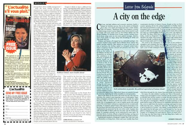 Article Preview: A city on the edge, June 1993 | Maclean's