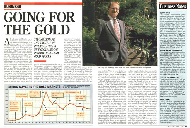 Article Preview: GOING FOR THE GOLD, June 1993 | Maclean's