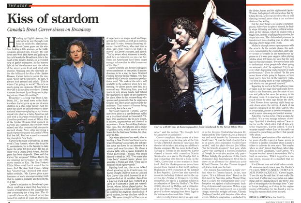 Article Preview: Kiss of stardom, June 1993 | Maclean's