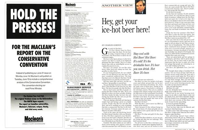Article Preview: Hey, get your ice-hot beer here!, June 1993 | Maclean's