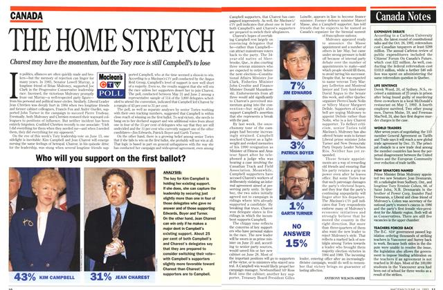 Article Preview: THE HOME STRETCH, June 1993 | Maclean's