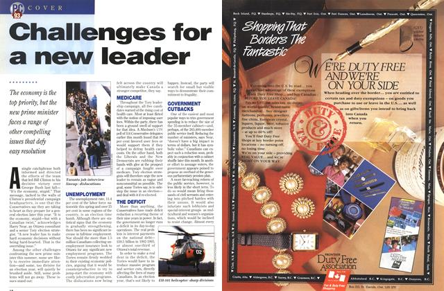 Article Preview: Challenges for a new leader, June 1993 | Maclean's