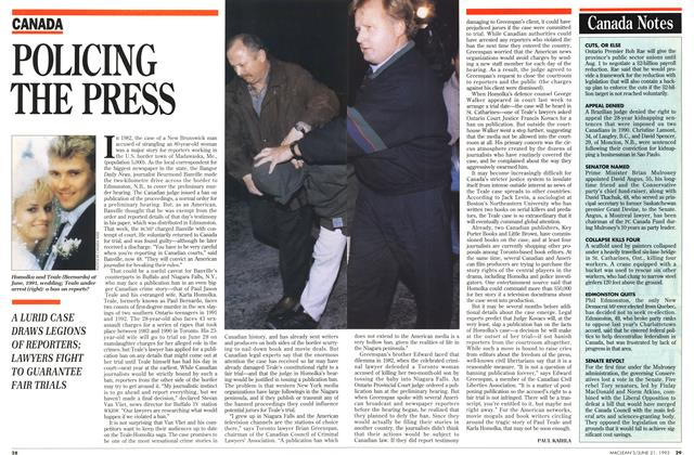 Article Preview: POLICING THE PRESS, June 1993 | Maclean's