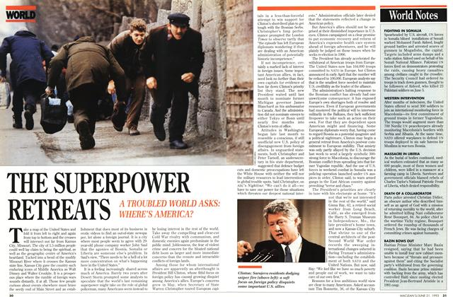Article Preview: THE SUPERPOWER RETREATS, June 1993 | Maclean's