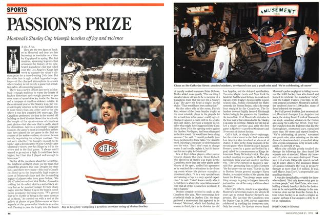 Article Preview: PASSION'S PRIZE, June 1993 | Maclean's