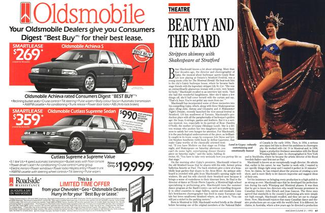 Article Preview: BEAUTY AND THE BARD, June 1993 | Maclean's