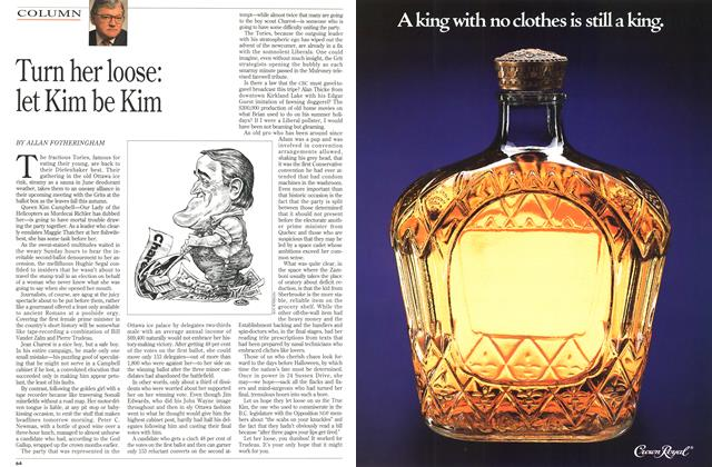 Article Preview: Turn her loose: let Kim be Kim, June 1993 | Maclean's